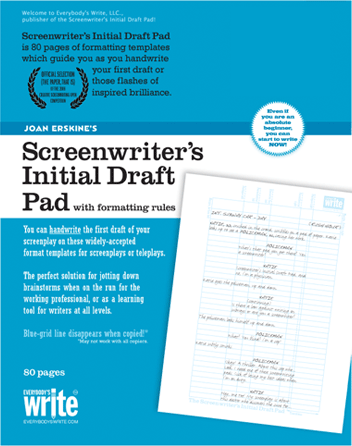 Screenwriter's Initial Draft Pad